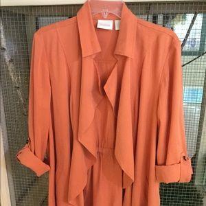 Chicos Lightweight Orange Jacket 2 (L)